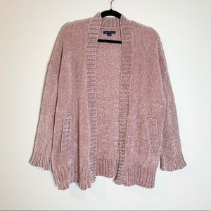 American Eagle | Dusty Pink Chenille Cardigan
